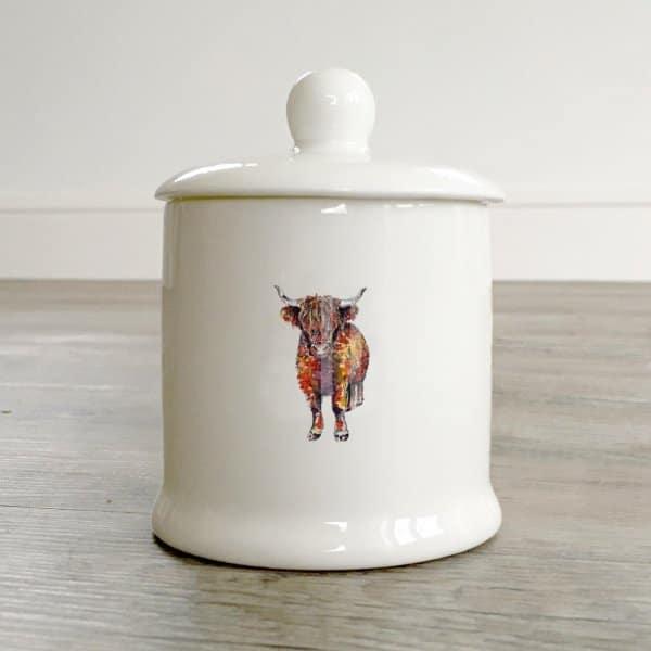 Boxed Lidded Sugar Pot