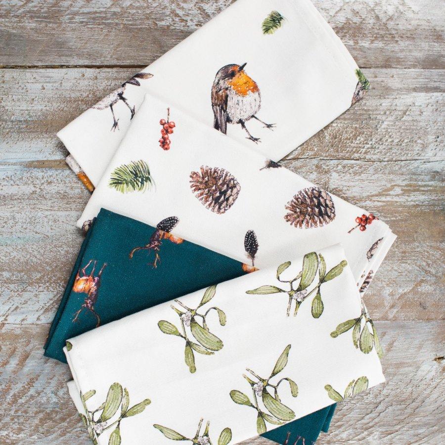 Christmas tea towels