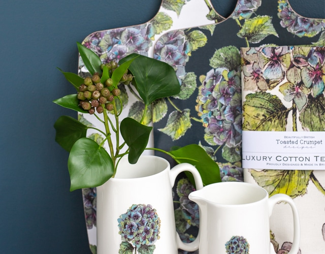 """<a href=""""https://toastedcrumpet.co.uk/?s=hydrangea&search_id=1&post_type=product""""><p> New In - Hydrangea Collection </p></a>"""