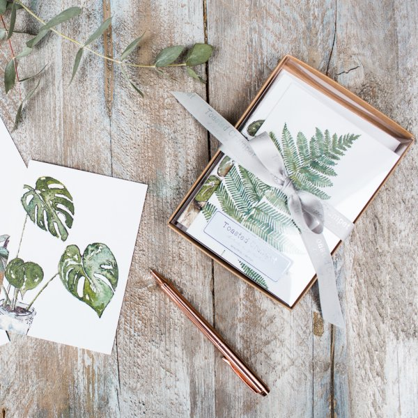 Greenery notecard box
